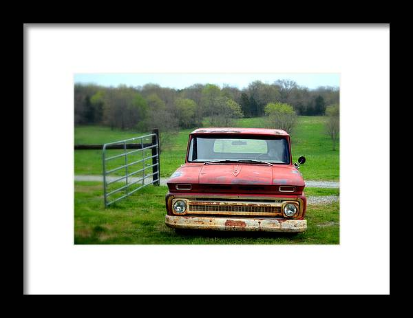 Old Chevy Framed Print featuring the photograph Old Chevy Truck by Jolie Bell