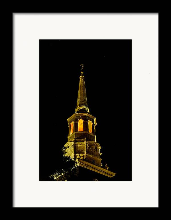 First Friday Framed Print featuring the photograph Old Christ Church by Louis Dallara