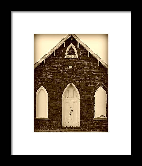 Church Framed Print featuring the photograph Old Church by Brenda Conrad