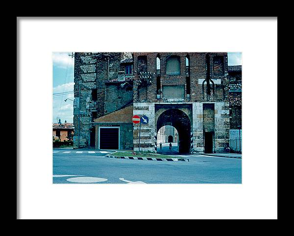Vicenza Framed Print featuring the photograph Old City Gate Vicenza 1962 by Cumberland Warden