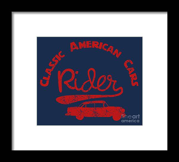College Framed Print featuring the digital art Old Classic American Car Havana Cuba by A1vector