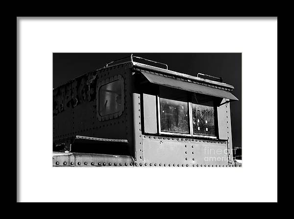 Digital Black And White Photo Framed Print featuring the digital art Old Copula Bw by Tim Richards