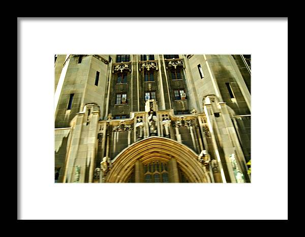 Architecture Framed Print featuring the photograph Old Detroit Building by Magi Yarbrough