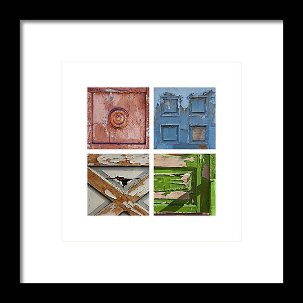 Door Framed Print featuring the photograph Old Door Panels by Art Block Collections