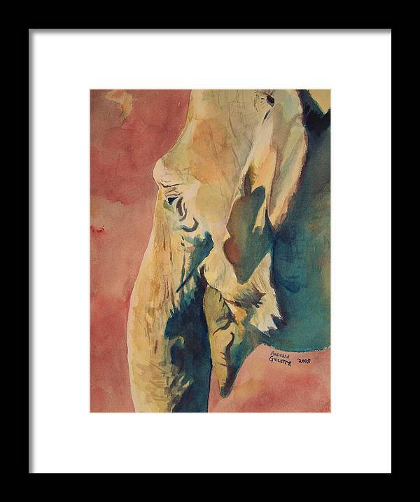 Elephant Framed Print featuring the painting Old Elephant by Andrew Gillette
