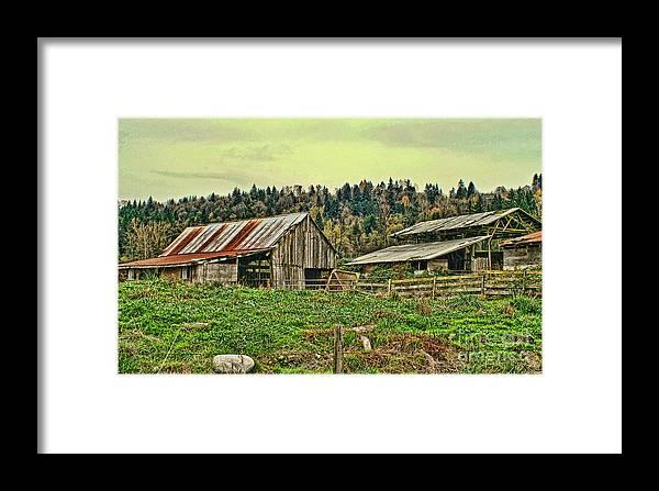 Barn Framed Print featuring the photograph Old Farm by Dawn Harris