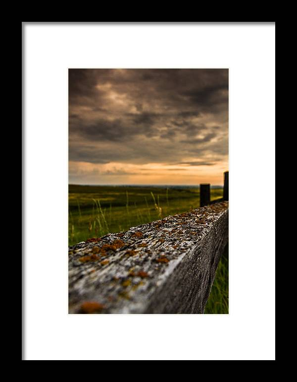 Sunset Framed Print featuring the photograph Old Farm Fence by Maik Tondeur