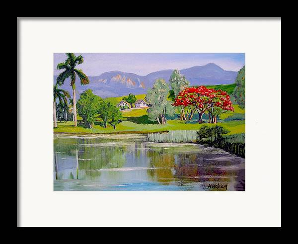 Oil Framed Print featuring the painting Old Farm by Jose Manuel Abraham
