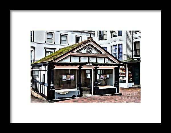 England Framed Print featuring the digital art Old Fish Market by Paul Stevens