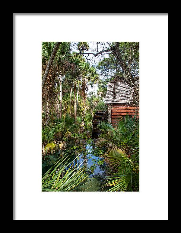 Framed Print featuring the photograph Old Florida Watermill I by W Chris Fooshee