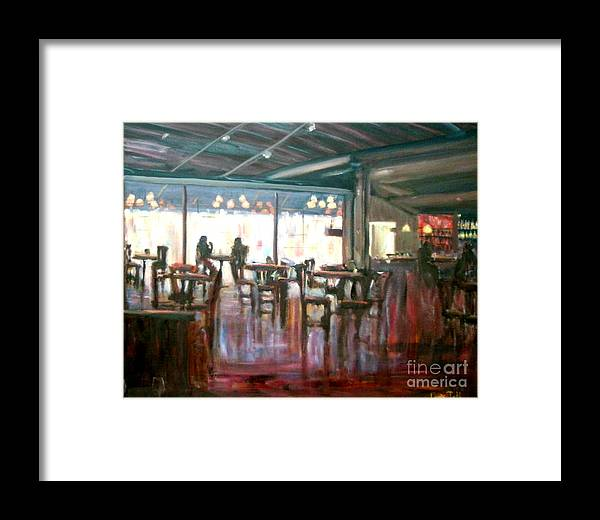 Restaurants Framed Print featuring the painting Old Friends by Laura Toth