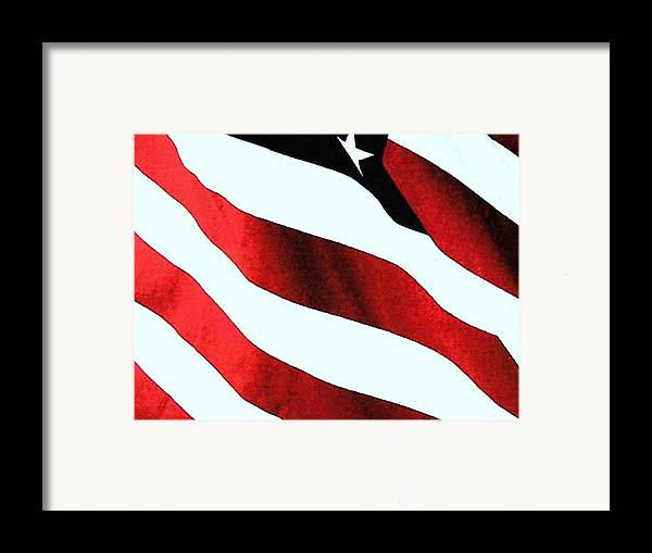 American Flag Framed Print featuring the photograph Old Glory by Dan Twyman