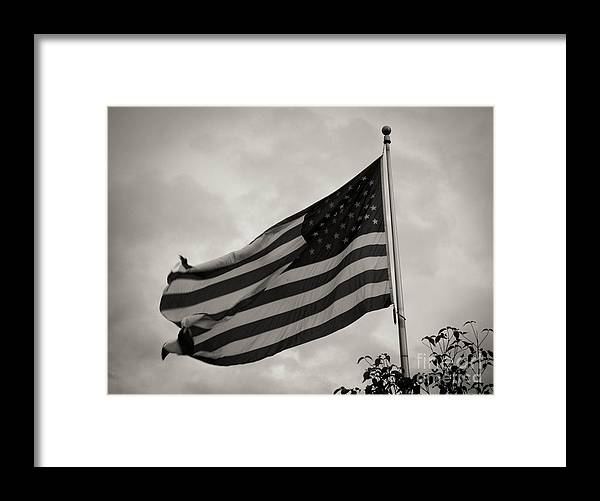 Flag Framed Print featuring the photograph Old Glory by Jenn Munson