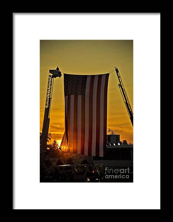 American Flag Framed Print featuring the photograph Old Glory by Jim Lepard