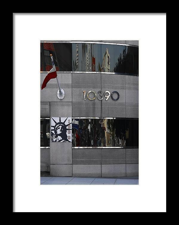 American Framed Print featuring the photograph Old Glory Santa Monica Blvd. by Viktor Savchenko