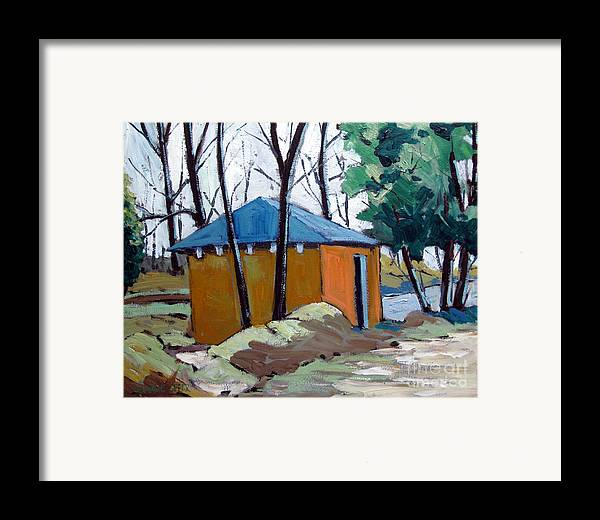 Golf Course Framed Print featuring the painting Old Golf Course Shed No.5 by Charlie Spear