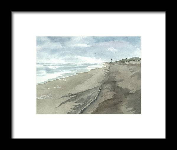 Obx Framed Print featuring the painting Old Hatteras Light by Joel Deutsch