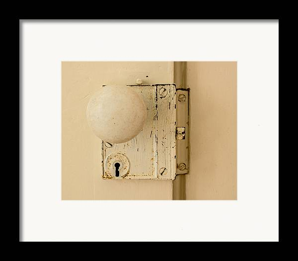 Old Framed Print featuring the photograph Old Lock by Photographic Arts And Design Studio