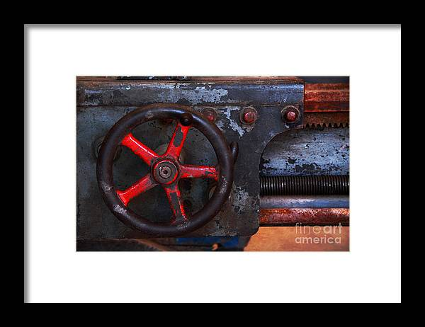 Old Framed Print featuring the photograph Old Machine Tool by Charline Xia