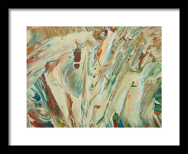 Original Framed Print featuring the painting Old Man Winter by Artist Ai