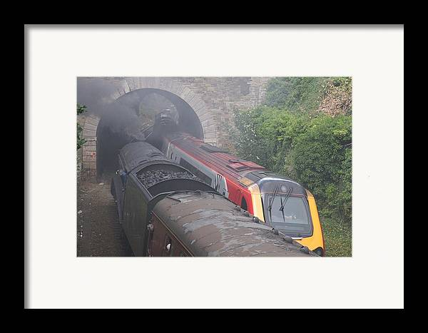 Trains Framed Print featuring the photograph Old Meets New. by Christopher Rowlands