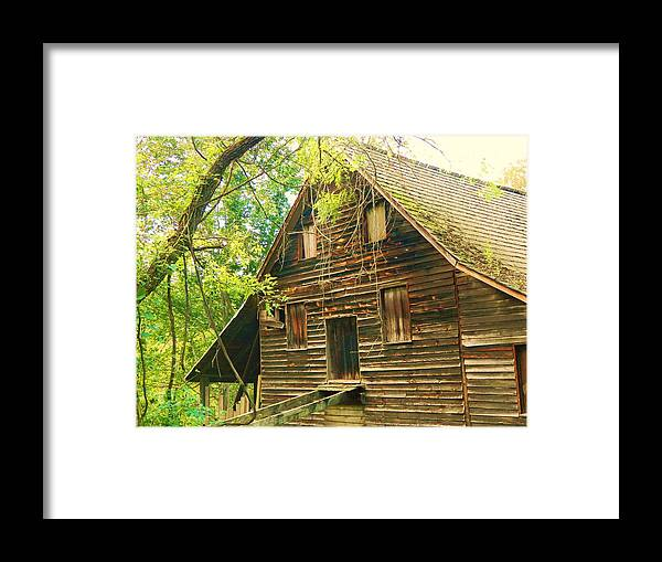 Landscape Framed Print featuring the photograph Old Mill by Heather White