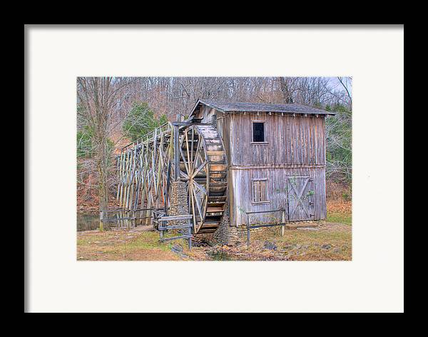 Old Framed Print featuring the photograph Old Mill Water Wheel And Sluce by Douglas Barnett