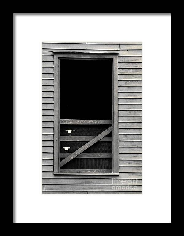 Window Framed Print featuring the photograph Old Mill Window by Pamela Shane
