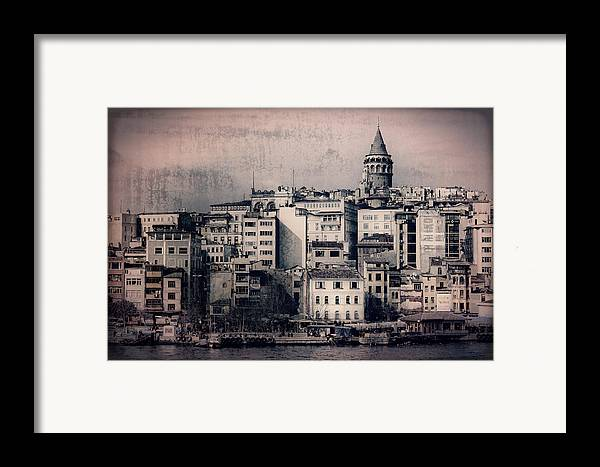 Galata Tower Framed Print featuring the photograph Old New District by Joan Carroll