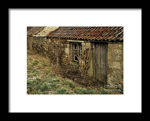 Northumberland Framed Print featuring the photograph Old Northumberland Stone Buildings by Martyn Arnold