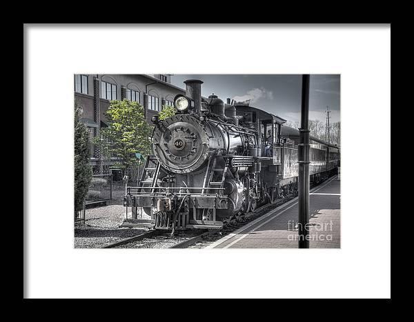 Train Framed Print featuring the photograph Old Number 40 by Anthony Sacco