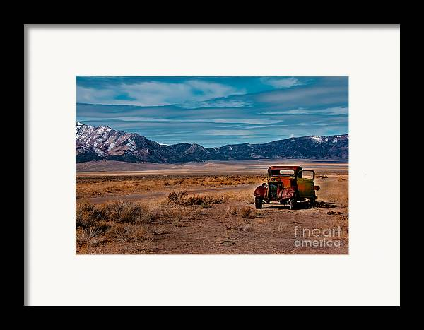Transportation Framed Print featuring the photograph Old Pickup by Robert Bales