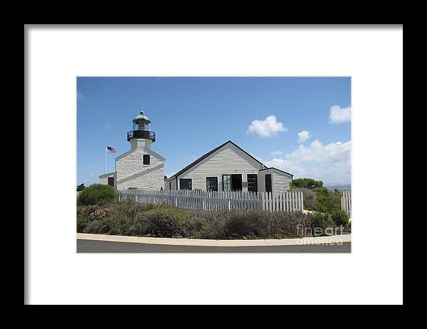 Lighthouse Framed Print featuring the photograph Old Point Loma Lighthouse 1 by Cedric Hampton