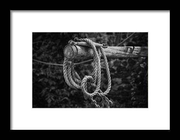 Rope Framed Print featuring the photograph Old Rope by David Hare
