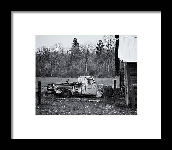 Automotive Framed Print featuring the photograph Old Rusty Gmc Pickup by Steve G Bisig