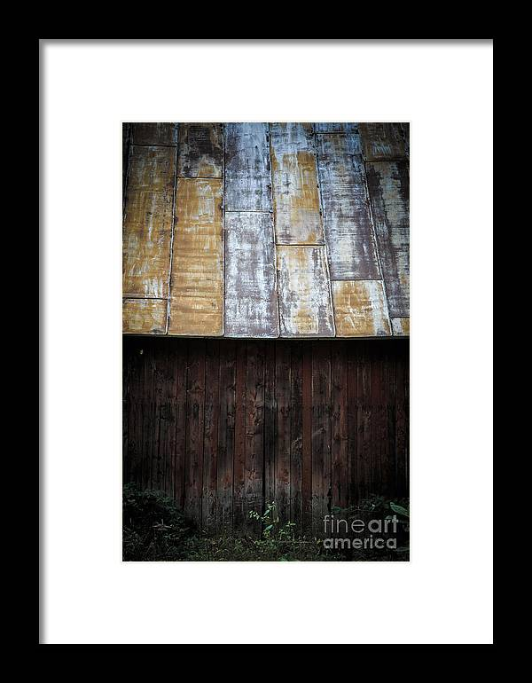 Vermont Framed Print featuring the photograph Old Rusty Tin Roof Barn by Edward Fielding