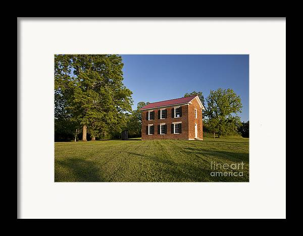 Old Schoolhouse Framed Print featuring the photograph Old Schoolhouse by Brian Jannsen