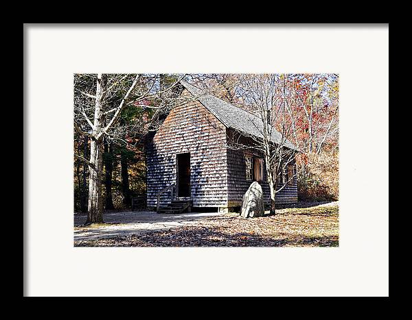 Antique Framed Print featuring the photograph Old Schoolhouse Building by Susan Leggett