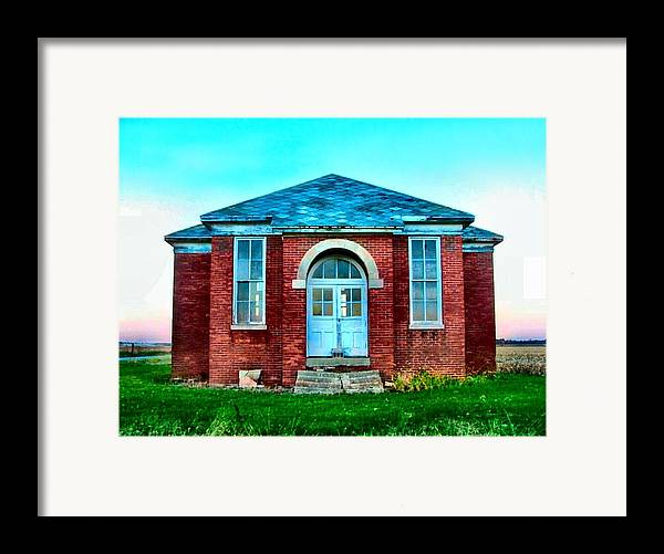 Schools Framed Print featuring the photograph Old Schoolhouse by Julie Dant