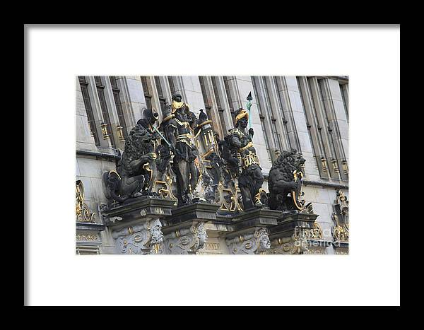 House Framed Print featuring the photograph Old Sculptures by Four Hands Art