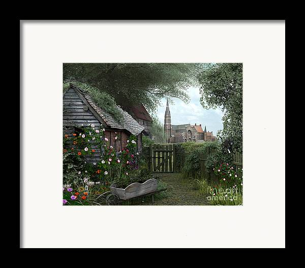 Architecture Framed Print featuring the digital art Old Shed by Dominic Davison