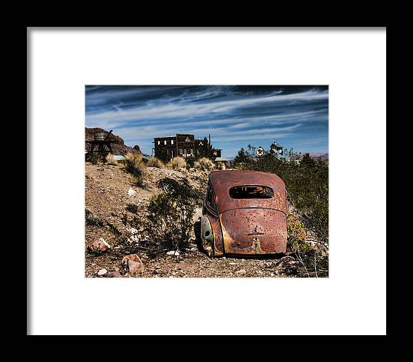 Junk Cars Framed Print featuring the photograph Old Shot by Ron Metz