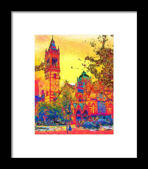 Architecture Framed Print featuring the painting Old South Church by Anthony Caruso