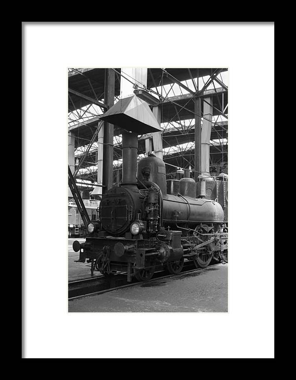 Aged Framed Print featuring the photograph Old Steam Locomotive by Stephan Stockinger