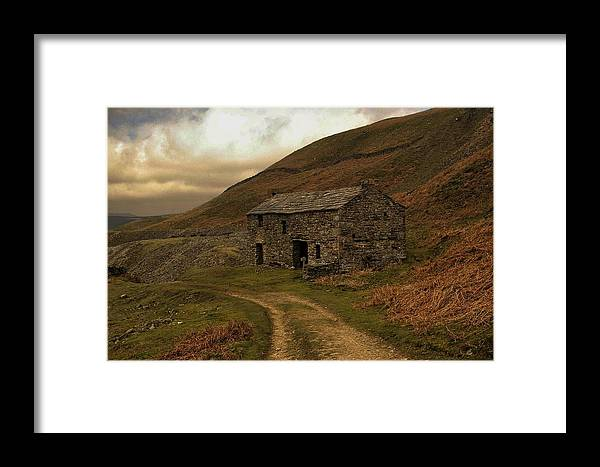 Old Barn Framed Print featuring the photograph Old Stone Barn by David Borrill