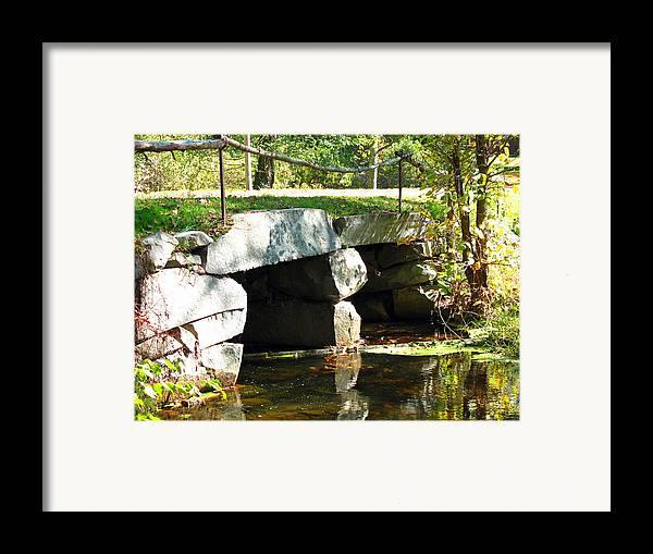 Bridge Framed Print featuring the photograph Old Stone Bridge by Barbara McDevitt