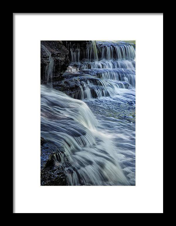 Water Framed Print featuring the photograph Old Stone Fort Waterfall by Diana Powell