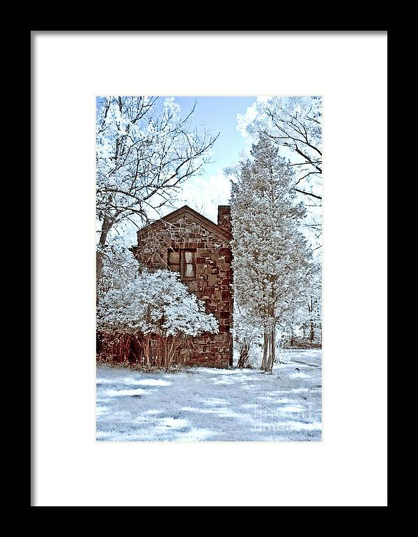 Trees Framed Print featuring the photograph Old Stone House by Anthony Sacco
