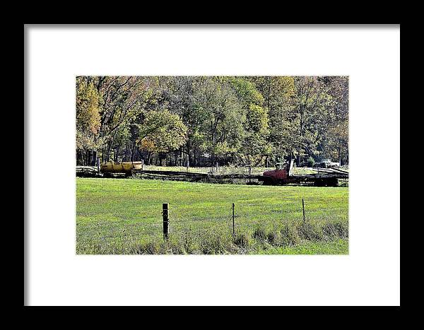 Old Things.antiques Framed Print featuring the photograph Old Things 5 by Lawrence Hess