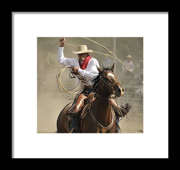 Rodeo Framed Print featuring the photograph Old Time Ranch Rodeo by Clay and Gill Ross